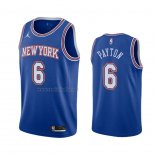 Camiseta New York Knicks Elfrid Payton #6 Statement 2020-21 Azul