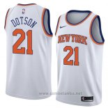 Camiseta New York Knicks Damyean Dotson #21 Association 2018 Blanco