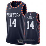 Camiseta New York Knicks Allonzo Trier #14 Ciudad 2019 Azul