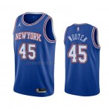 Camiseta New York Knicks Kenny Wooten #45 Statement 2020-21 Azul